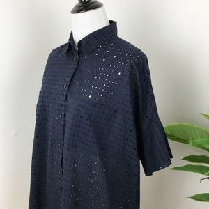 Madewell Tops - Madewell eyelet courier blouse in navy